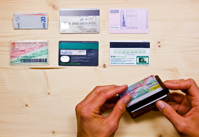 Cards and banknotes, Wowa wood wallets