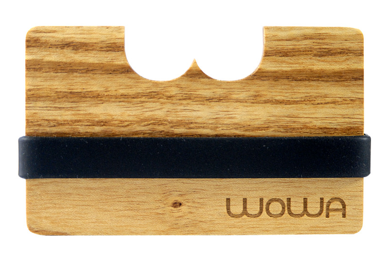 WOWA Canadian Acacia wood wallet, product photo